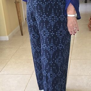 Stylish Palazzo Pants Navy Blue Shades Circles
